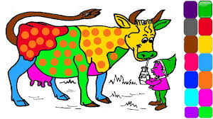 learn colours for kids cow colouring page colors for children
