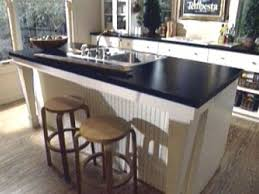 kitchen island with sink and seating kitchen sink options diy