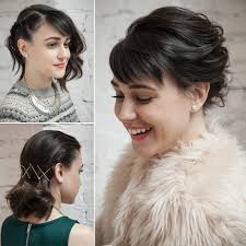easy party hairstyles for medium length hair holiday hair ideas for short hair popsugar beauty
