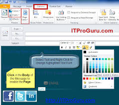 change calendar layout outlook 2013 outlook email message change background color font and more