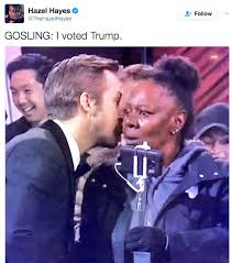 I Voted Meme - he voted trump ryan gosling whispering know your meme