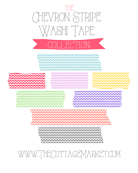 free chevron stripe washi tape digital collection the cottage market