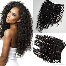 Yaki Clip In Human Hair Extensions by Mongolian Deep Wave Clip In Human Hair Extensions 120gram Pack