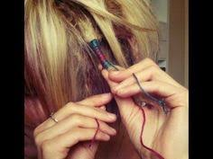 hippie hair wrap mixed thread hair wrap diy hair wrap acessórios