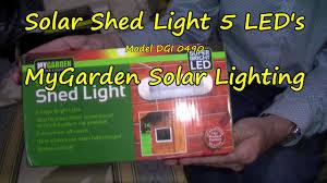 Solar Shed Light solar shed light 5 led u0027s youtube