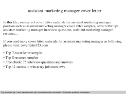 Assistant Marketing Manager Resume Sample by Assistant Marketing Manager Cover Letter