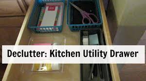 declutter kitchen junk drawer youtube