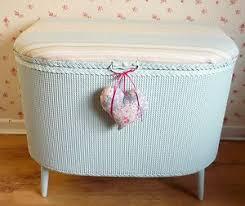 shabby chic vintage lloyd loom ottoman storage blanket box laura