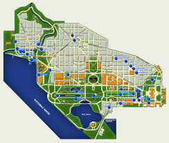 Washington Dc Area Map by Of Washington Dc Usa