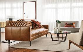 room and board leather sofa goodwin leather sofa living room modern living room furniture