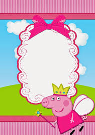 peppa pig fairy free printable invitations bday pinterest