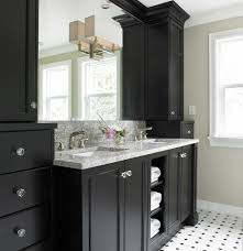 black bathrooms black white tile bathroom vanity cabinets white