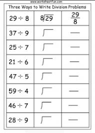 three ways to write division problems u2013 1 worksheet free