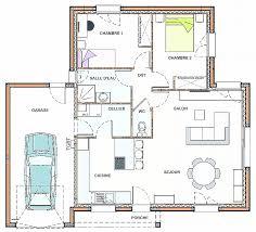 plan bureau plan maison plain pied 70m2 plein 13 de traditionnelle gratuit 3