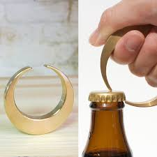 unique bottle opener brass crescent bottle opener so that s cool