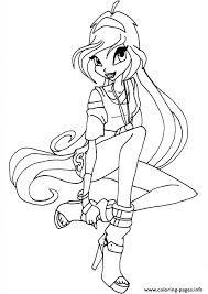 winx disco bloom winx club coloring pages printable