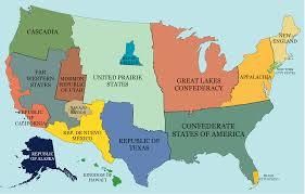 Map Of Americas Hypothetical Map Of A Split Up United States Of America 3675