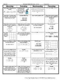 7th grade math spiral review 7th grade math homework 7th grade