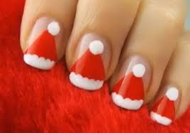 cute christmas nails easy how you can do it at home pictures