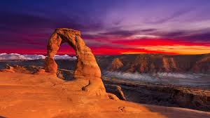 Wedding Arches National Park Sunset Red Clouds Delicate Arch Arches National Park Utah United