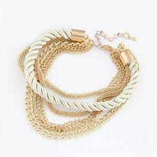 chain braided bracelet images Gold chain braided rope bracelet bliss ever after jpg