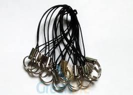 metal fish ring holder images Durable lanyard accessories black nylon phone string loop with jpg