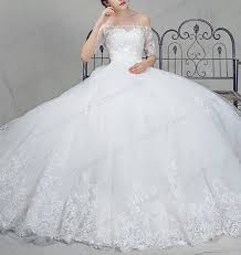 is022 gorgeous off shoulder white princess tulle ball gown wedding