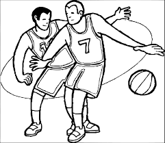 children playing basketball clipart black and white clipartxtras