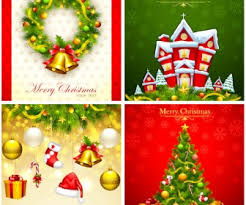 free high colored christmas card psd cards