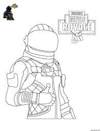 Coloriage Fortnite Battle Royale personnage 4 à imprimer  My love