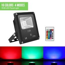 le led le 10w rgb led flood lights my home gallery