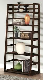 Library Bookcase With Ladder by Wood Bookcase Ladder Display Books Library Bookshelf Wall Shelf