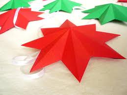 3d paper star christmas garland the little koo blog