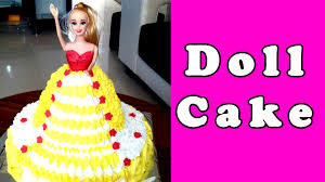 barbie doll cake making u0026 decorating recipe without fondant