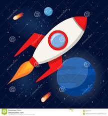 cartoon space rocket in space thegogreenblog