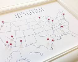 paper anniversary gifts for him usa travel map pin board diy small united states map with foam
