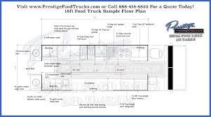custom food truck floor plan samples prestige custom food truck 18 7 foot food truck floor plan prestige