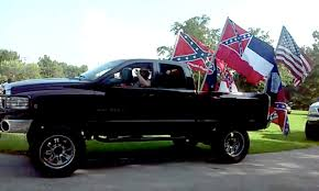 american flag truck trucks fly confederate flags in incident video nytimes com