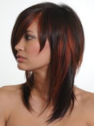red hairstyles color with highlights highlights intense red