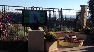 outdoor tv lift cabinet outdoor tv lift motorized remote controlled sunbrite tv youtube