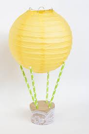 How To Make Paper Air Balloon Lantern - diy paper lantern air balloon linentablecloth