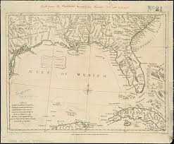 louisiana florida map a map of east and west florida and louisiana with the