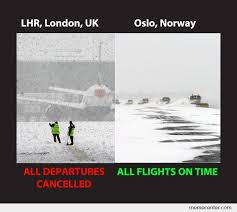 Norway Meme - snow in britain vs snow in norway by ben meme center