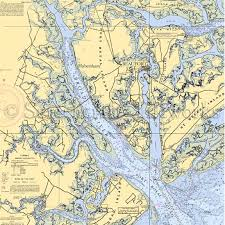 South Carolina rivers images Carolina beaufort broad river nautical chart decor jpg