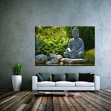 Buddha Deko Wohnzimmer Leinwand Bild Xxl Buddha Japan Zen Frühling Religion Natur Yoga 90