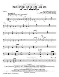 adele rumour has it glee has it someone like you drums sheet music