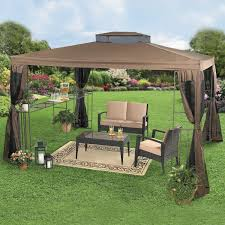 Covered Gazebos For Patios Patio Huge Patio Gazebo With Canopy Covering Patio Furniture Set