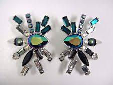 s clip on earrings swarovski clip fashion earrings ebay