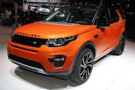land rover discovery sport red jaguar land rover show f type manual and awd discovery sport at l a