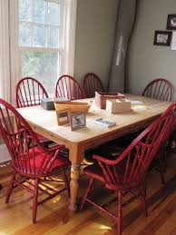dinning red upholstered dining chairs red dining table dining room